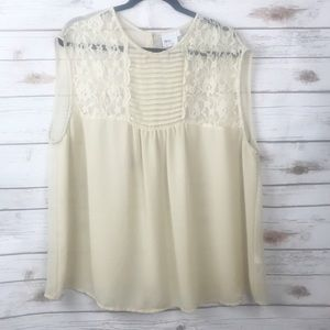 ASOS Curve Ivory Lace Insert Top 20